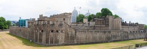 伦敦塔,英国,全景 库存图片