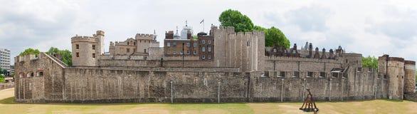 伦敦塔,英国,全景 免版税库存照片