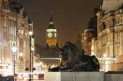 伦敦夜视图,包括大本钟 库存照片