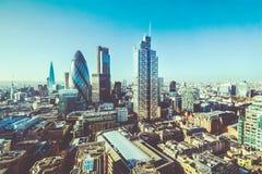 伦敦大厦鸟瞰图  免版税图库摄影