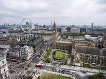伦敦大本钟塔时钟地平线天线 库存图片
