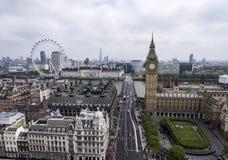伦敦大本钟塔时钟地平线天线3 免版税库存照片