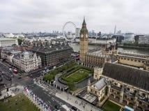 伦敦大本钟塔时钟地平线天线4 免版税库存图片