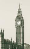 伦敦大本钟威斯敏斯特从Westmi的塔A视图的西边 库存图片