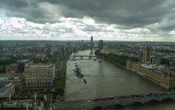 伦敦天空线bigben 库存图片