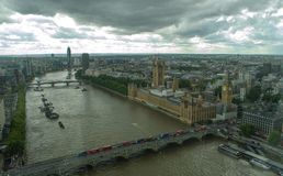 伦敦天空线bigben 图库摄影
