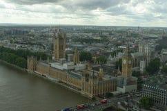 伦敦天空线bigben 免版税库存图片