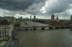 伦敦天空线bigben 免版税库存照片