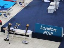 伦敦奥林匹克2012年残奥会游泳 库存照片