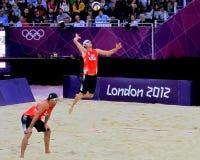 伦敦奥林匹克2012沙滩排球 库存照片