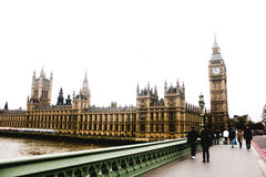 伦敦威斯敏斯特桥梁,西敏寺,威斯敏斯特宫,大本钟 库存照片