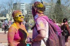 伦敦安大略,加拿大- 4月16 :画象两未认出 免版税图库摄影