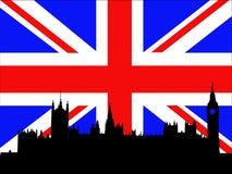 伦敦宫殿威斯敏斯特 皇族释放例证