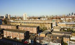 伦敦屋顶上面  库存图片