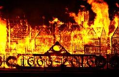 伦敦巨大火 免版税图库摄影