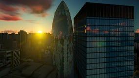 伦敦市、鸟瞰图和美好的日出,4K 股票录像