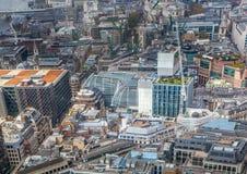 伦敦市事务,办公室和开户区域 图库摄影