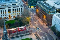 伦敦市事务,办公室和开户区域 免版税库存照片