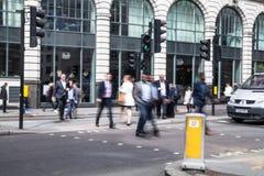 伦敦市企业生命力 小组去的商人工作 免版税库存照片
