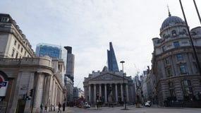伦敦市历史建筑 库存照片