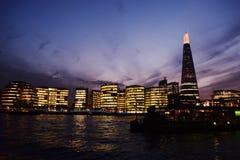 伦敦市和碎片 库存图片