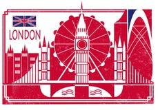 伦敦市地平线传染媒介背景 免版税库存照片