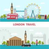 伦敦市地平线海报 皇族释放例证