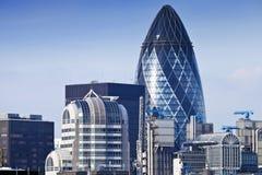 伦敦市地平线白天鸟瞰图  库存照片