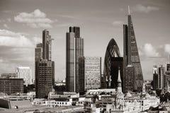 伦敦市屋顶 免版税库存图片