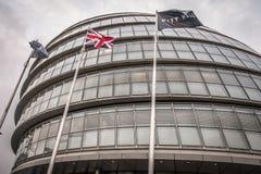 伦敦市政厅  图库摄影