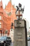 伦敦市狮子雕象 免版税库存照片