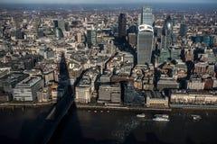 伦敦市的鸟瞰图 库存图片