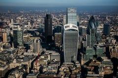 伦敦市的鸟瞰图 免版税图库摄影