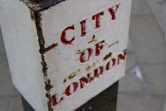 伦敦市路牌 库存照片
