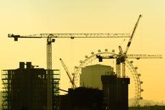 伦敦建设中 免版税库存照片