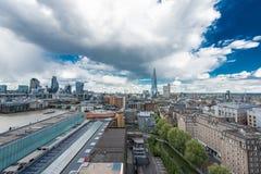 伦敦形式看法现代的塔特 免版税库存照片