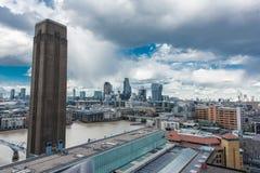 伦敦形式看法现代的塔特 图库摄影