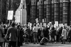 伦敦抗议在城市的中心 图库摄影