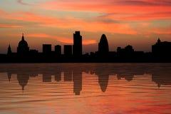 伦敦摩天大楼日落 图库摄影