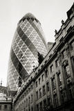 伦敦摩天大楼, 30圣玛丽轴也告诉了Gherkin 图库摄影
