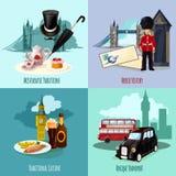 伦敦旅游集合 免版税库存照片