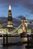 伦敦晚上场面 库存照片
