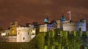 伦敦晚上塔 免版税图库摄影