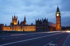 伦敦晚上视图 库存照片
