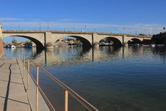 伦敦桥Havasu湖市,亚利桑那 免版税库存图片
