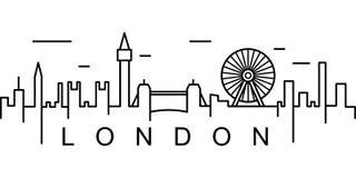 伦敦概述象 能为网,商标,流动应用程序,UI,UX使用 向量例证