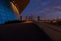 伦敦水上运动中心在晚上,伦敦 图库摄影