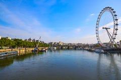 伦敦河地平线泰晤士 免版税库存图片