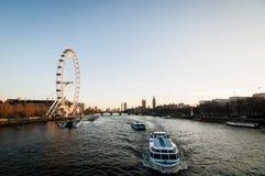 伦敦河泰晤士 免版税库存图片