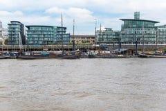 伦敦河泰晤士 免版税库存照片
